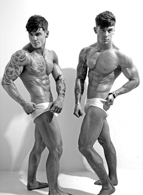 Harrison Twins Models http://idpm.me/2012/06/05/double-or-nothing-owen-lewis-harrison/